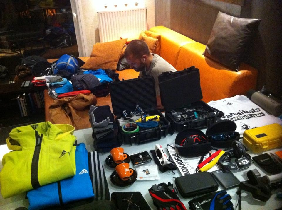 #cannibalsadventureteam final packing with sponsors